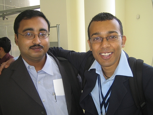 Dipankar(left) & I at Community Day, SAP TechEd, 2007.